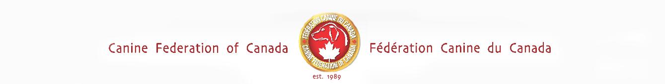 Canine Federation of Canada - Federation Canine du Canada